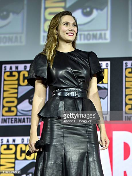 Elizabeth Olsen of Marvel Studios' 'WandaVision' at the San Diego ComicCon International 2019 Marvel Studios Panel in Hall H on July 20 2019 in San...