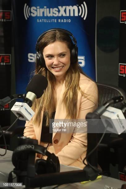 Elizabeth Olsen visits the SiriusXM Studios on September 11 2018 in New York City