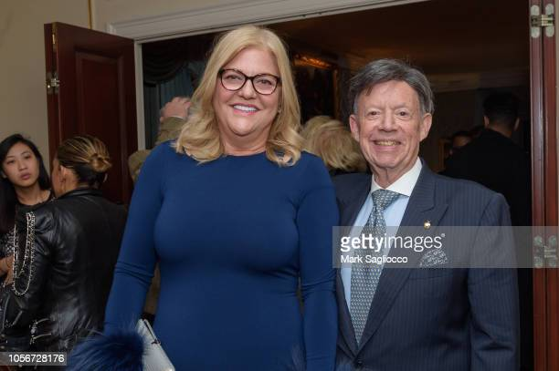 Elizabeth Papadopoulos Sills and John Sills attends Jean Shafiroff hosts a YAGP 20th Anniversary Cocktail Party at a Private Residence on November 2...