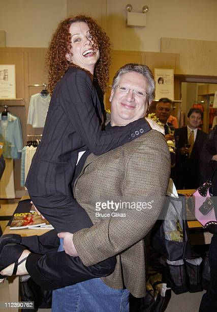 Elizabeth Parkinson and Harvey Fierstein during The Official Drama Desk Cocktail Party at St John Boutique in New York City New York United States