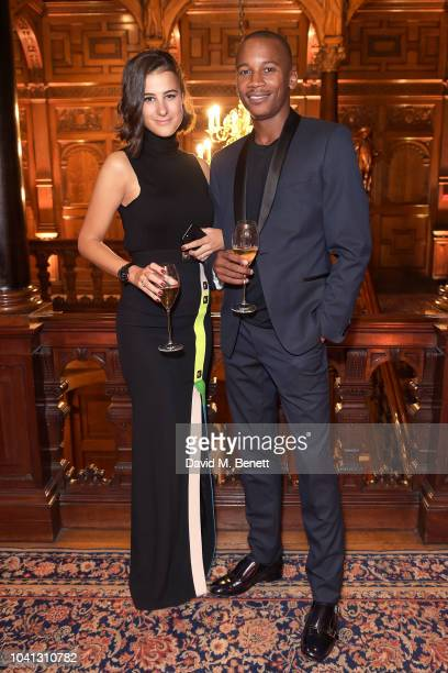 Elizabeth Parte and Eric Underwood attend a intimate dinner cohosted by LOUIS XIII Vanity Fair celebrating the brand's '100 Years' campaign on...