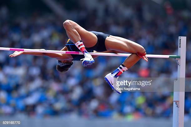Elizabeth Patterson of the United States competes in the Women's High Jump during the SEIKO Golden Grand Prix 2016 at Todoroki Stadium on May 8, 2016...