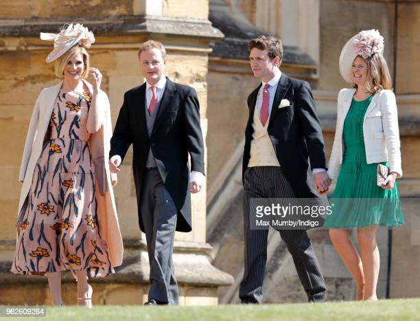 Elizabeth Pelly Guy Pelly James Meade and Lady Laura Meade attend the wedding of Prince Harry to Ms Meghan Markle at St George's Chapel Windsor...