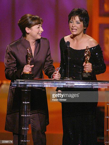 Elizabeth Pena and Elpidia Carrillo at The 2002 ALMA Awards at the Shrine Auditorium in Los Angeles Ca Saturday May 18 2002 Photo by Kevin...