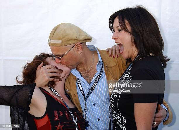 Elizabeth Pena Joe Pantoliano Jennifer Tilly during The 18th Annual IFP Independent Spirit Awards Backstage at Santa Monica Beach in Santa Monica...