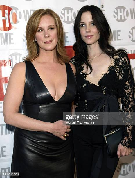 Elizabeth Perkins and MaryLouise Parker during Showtime Presents Weeds and Barbershop Los Angeles Premiere at Paramount Theater At Paramount Studios...