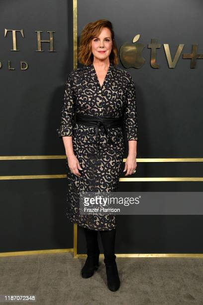 Elizabeth Perkins attends the Premiere Of Apple TV's Truth Be Told at AMPAS Samuel Goldwyn Theater on November 11 2019 in Beverly Hills California