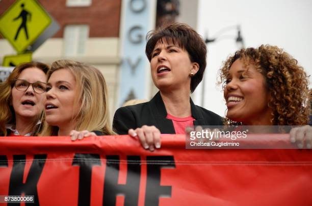 Elizabeth Perkins Lauren Sivan and Connie Leyva seen at the Take Back The Workplace March on November 12 2017 in Hollywood California