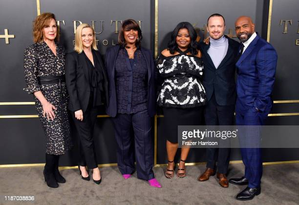 Elizabeth Perkins Reese Witherspoon Nichelle D Tramble Octavia Spencer Aaron Paul and Michael Beach attend the Premiere of Apple TV's Truth Be Told...