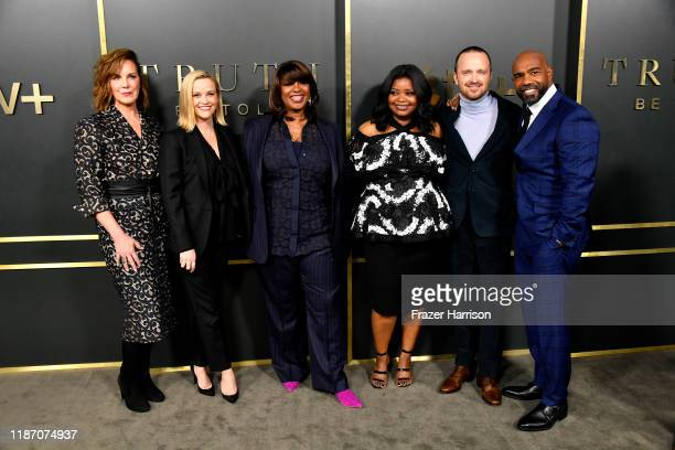 Elizabeth Perkins Reese Witherspoon Nichelle Tramble Spellman Octavia Spencer Aaron Paul Michael Beach attend the Premiere Of Apple TV's Truth Be...