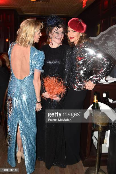 Elizabeth Pratt Becca Cason Thrash and Tracey Amon attend Julie Macklowe's 40th birthday Spectacular at La Goulue on December 19 2017 in New York City
