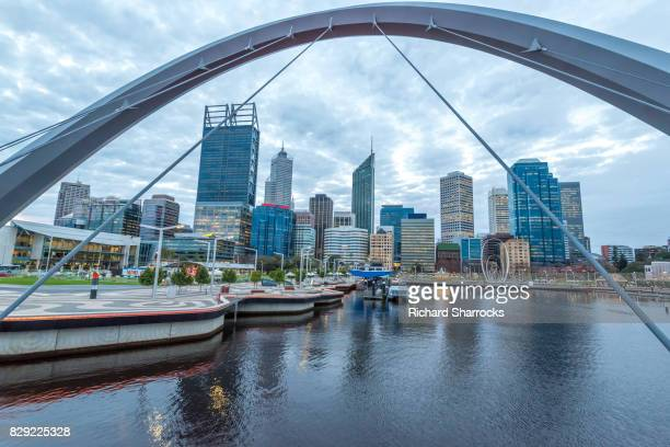 elizabeth quay and central business district, pert, western australia - quayside stock pictures, royalty-free photos & images