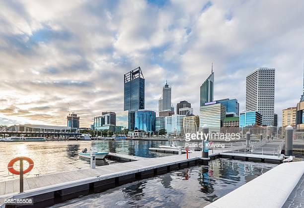 elizabeth quay, perth, western australia/ australia - perth stock pictures, royalty-free photos & images