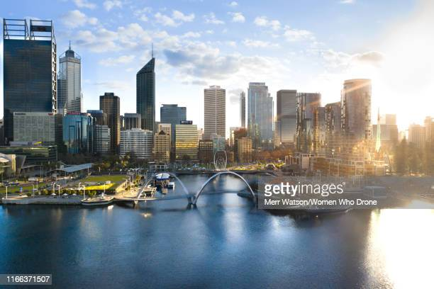 elizabeth quay - perth stock pictures, royalty-free photos & images