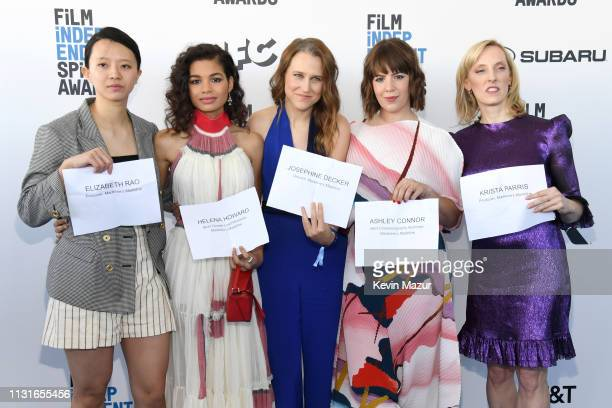 Elizabeth Rao Helena Howard Josephine Decker Ashley Connor and Krista Parris attend the 2019 Film Independent Spirit Awards on February 23 2019 in...