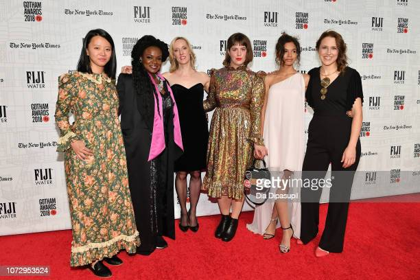 Elizabeth Rao Lisa Tharps Krista Parris Ashley Connor Helena Howard and Josephine Decker attend the 2018 IFP Gotham Awards at Cipriani Wall Street on...