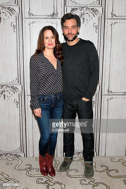 Elizabeth Reaser and Josh Radnor attend the Build Series to discuss The Babylon Line at AOL HQ on December 8 2016 in New York City