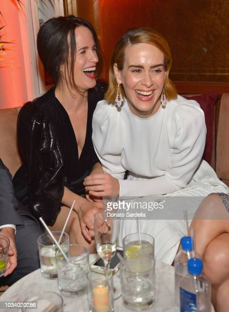Elizabeth Reaser and Sarah Paulson attend the 2018 Pre-Emmy Party hosted by Entertainment Weekly and L'Oreal Paris at Sunset Tower on September 15,...