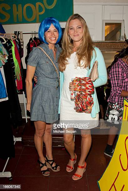Elizabeth Regen and Angela Gots attend Playground Of Dreams Presents 'The Coolest Variety Show On Earth' on April 6 2013 in Los Angeles California