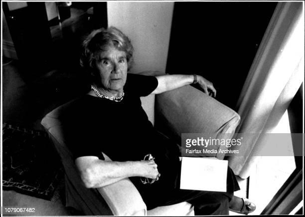Elizabeth Riddell poet with her newly published book November 17 1989