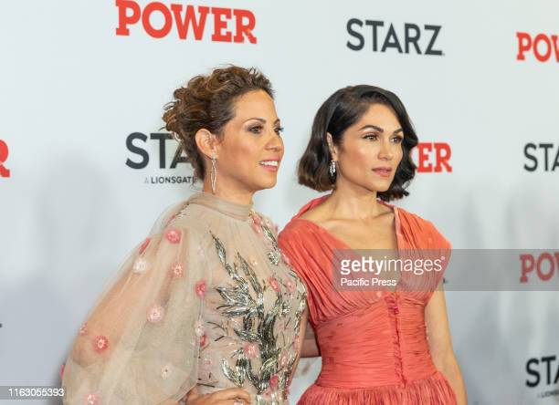 Elizabeth Rodriguez and Lela Loren attend STARZ Power Season 6 premiere at Madison Square Garden.