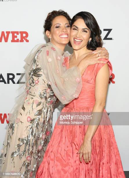 Elizabeth Rodriguez and Lela Loren attend the Power final season world premiere at The Hulu Theater at Madison Square Garden on August 20 2019 in New...