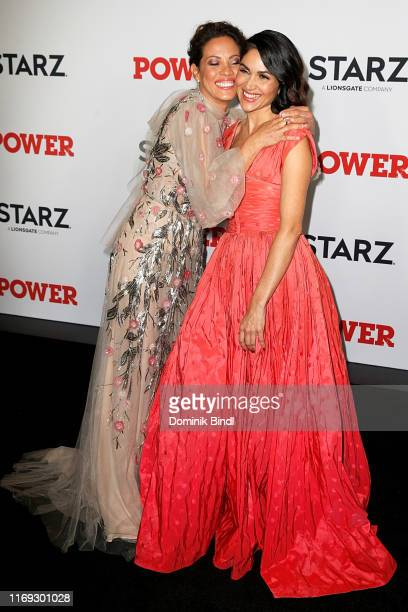 "Elizabeth Rodriguez and Lela Loren attend the ""Power"" final season world premiere at The Hulu Theater at Madison Square Garden on August 20, 2019 in..."