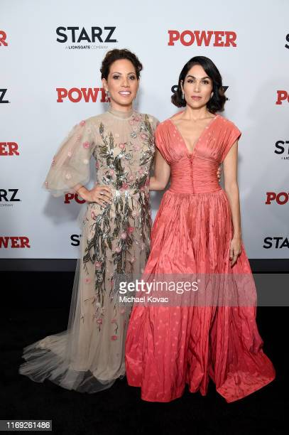 Elizabeth Rodriguez and Lena Loren at STARZ Madison Square Garden Power Season 6 Red Carpet Premiere Concert and Party on August 20 2019 in New York...