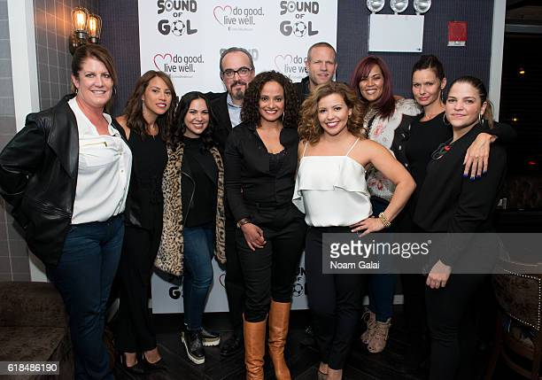 Elizabeth Rodriguez David Zayas Judy Reyes Jay DeMerit Judy Torres and Florencia Lozano attend the 2016 Sound of Gol Fundraiser at The Chester on...