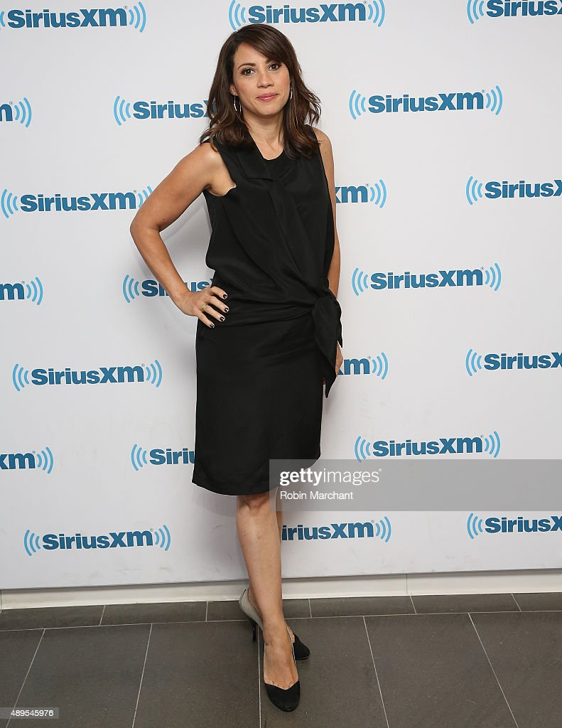 Elizabeth Rodriguez visits at SiriusXM Studios on September 22, 2015 in New York City.