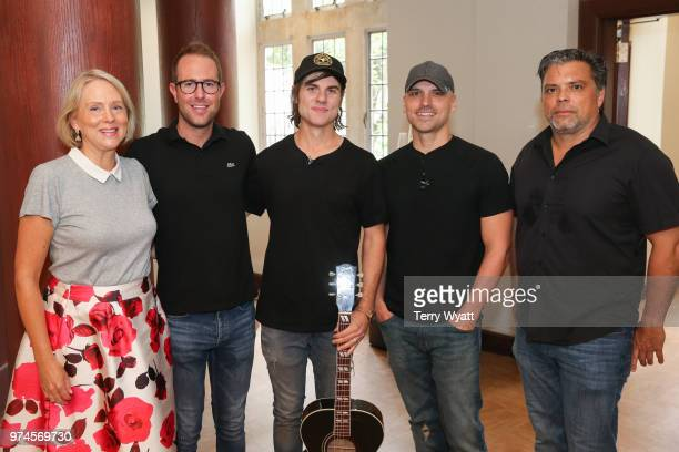 Elizabeth Roff Tommy Moore Ross Copperman Jon Nite and Shawn McSpadden attend the ACM Lifting Lives Music Camp Songwriting Workshop at Vanderbilt...
