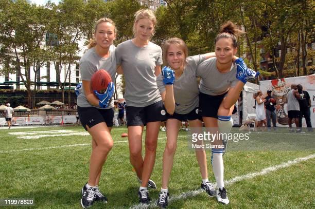 Elizabeth Rohm Rachel Nichols Willa Holland and Chrissy Teigen attend Madden NFL 12 Pigskin ProAm in Bryant Park on July 27 2011 in New York City
