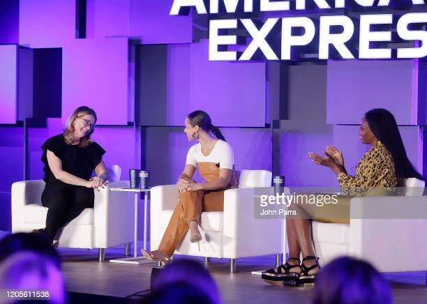 Elizabeth Rutledge American Express CMO Alicia Keys and Venus Williams at the American Express Global Women's Conference Unveiling The Ambition...