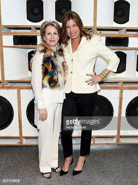 Elizabeth Sackler and Anne Pasternak attend The 2016 Brooklyn Museum Artists Ball Honoring Stephanie and Tim Ingrassia on April 20 2016 in New York...