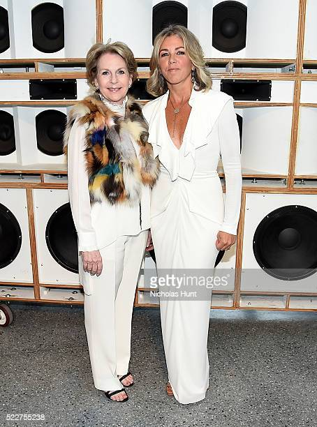 Elizabeth Sackler and Stephanie Ingrassia attend The 2016 Brooklyn Museum Artists Ball Honoring Stephanie and Tim Ingrassia on April 20 2016 in New...