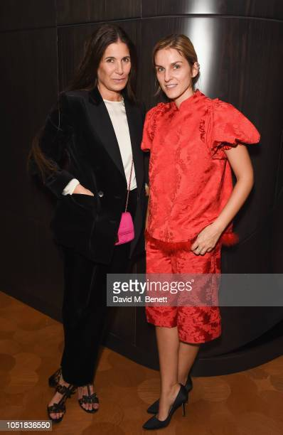 Elizabeth Saltzman and Gaia Repossi at the Repossi private cocktail on October 4, 2018 in London, England.