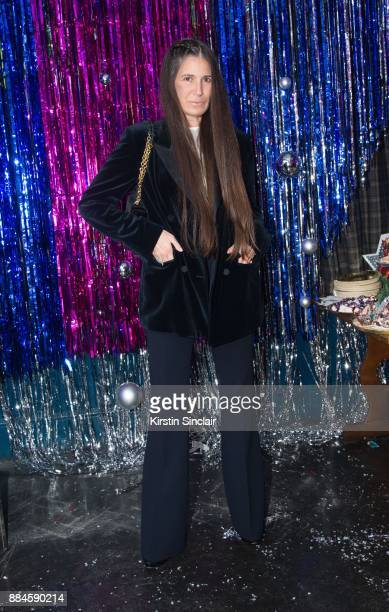 Elizabeth Saltzman attends the Burberry x Cara Delevingne Christmas Party on December 2 2017 in London England