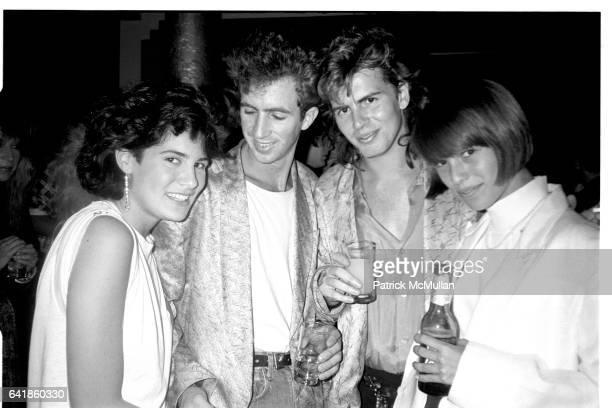 Elizabeth Saltzman Eric Goode John Taylor and Samantha Phillips at Area Saturday October 3 1984