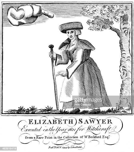 Elizabeth Sawyer executed as a witch in England in 1621 1794