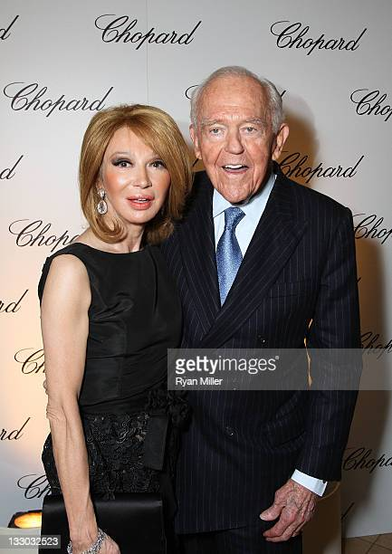 Elizabeth Segerstrom and Henry Segerstrom arrive during the Chopard reopening celebration of their South Coast Plaza boutique hosted by Marc Hruschka...