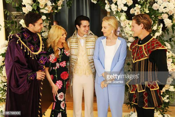 Elizabeth Segerstrom and Her Royal Highness Princess Michael of Kent attend afternoon tea with Her Royal Highness Princess Michael Of Kent at Knife...