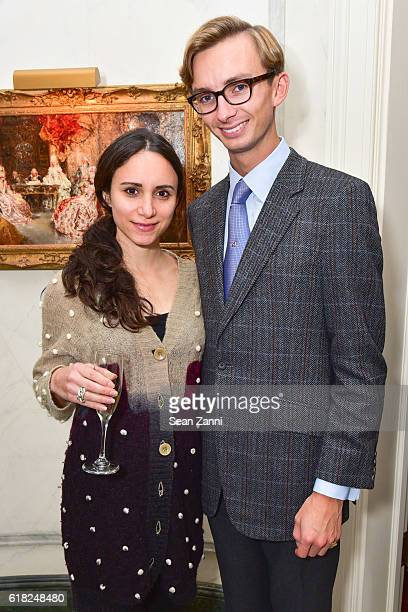 Elizabeth Shafiroff and Cole Rumbough attend Jean Martin Shafiroff Host a Champagne Tasting with PierreEmmanuel Taittinger for Young Friends of the...