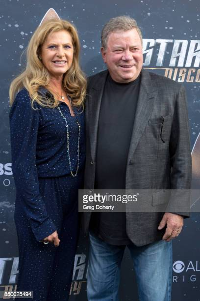 Elizabeth Shatner and Actor William Shatner arrive for the Premiere Of CBS's Star Trek Discovery at The Cinerama Dome on September 19 2017 in Los...