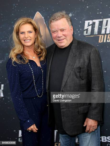 Elizabeth Shatner and actor William Shatner attend the premiere of CBS's 'Star Trek Discovery' at The Cinerama Dome on September 19 2017 in Los...