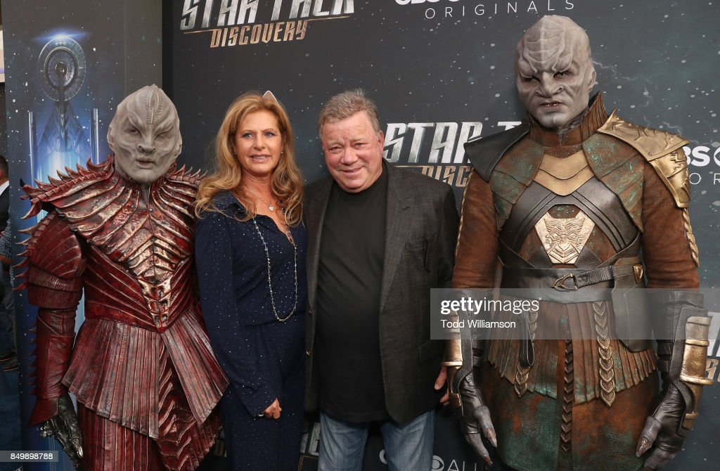 Elizabeth Shatner and William Shatner attend the premiere of CBS's 'Star Trek: Discovery' at The Cinerama Dome on September 19, 2017 in Los Angeles, California.