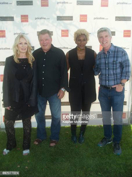 Elizabeth Shatner, William Shatner, Liv Warfield and Tom Bergeron attend the 27th Annual Priceline.com Hollywood Charity Horse Show at Los Angeles...