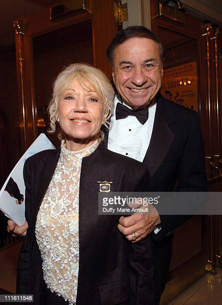 """Elizabeth Sherman and Richard M. Sherman during """"Chitty Chitty Bang Bang"""" Broadway Opening Night - Curtain Call and After Party at The Hilton Theatre..."""