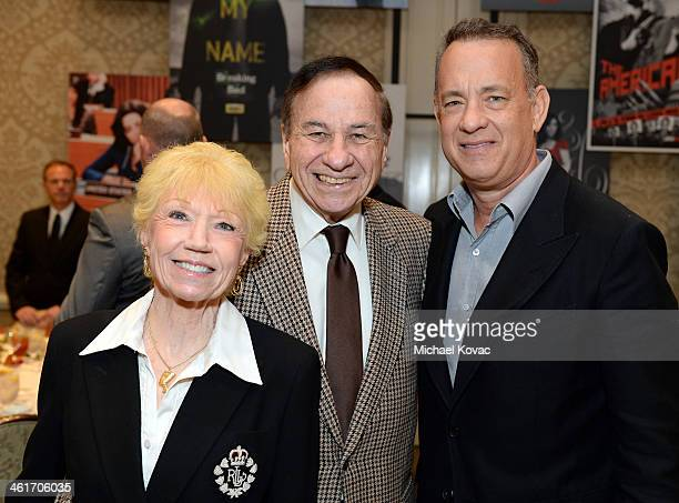 Elizabeth Sherman Mary Poppins composer Richard Sherman and Tom Hanks attend the 14th annual AFI Awards Luncheon at the Four Seasons Hotel Beverly...