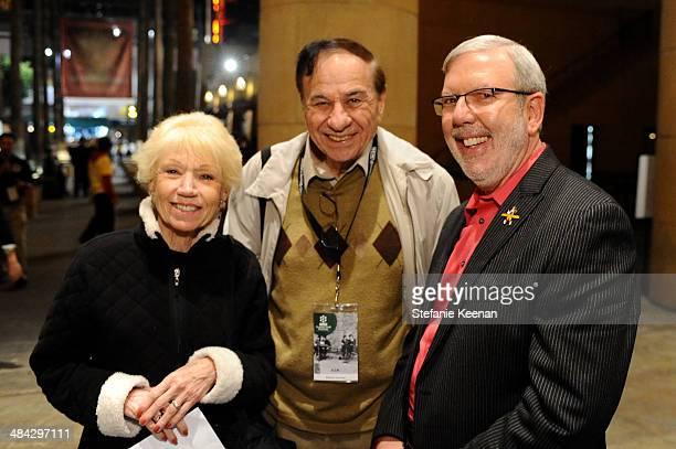 Elizabeth Sherman Richard M Sherman and Leonard Maltin attend 'The Italian Job' Screening during the 2014 TCM Classic Film Festival at The Egyptian...