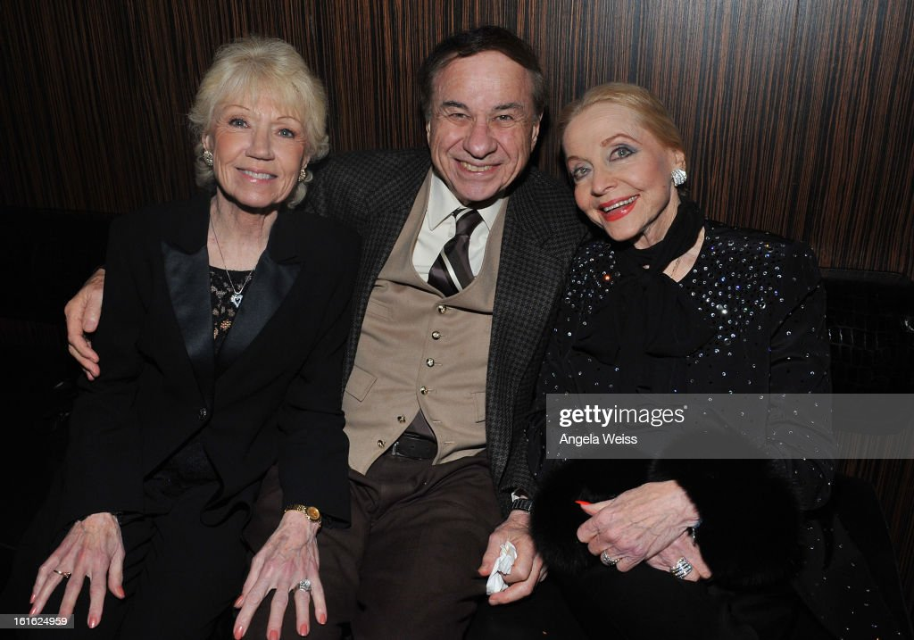 Elizabeth Sherman, Richard Sherman and Anne Jeffreys attend the opening night after party of 'Jekyll & Hyde' held at Beso on February 12, 2013 in Hollywood, California.